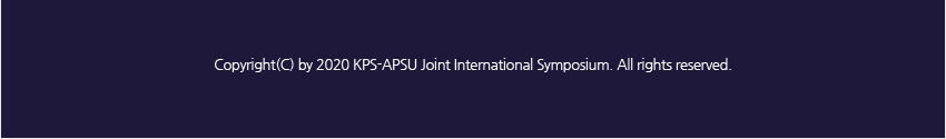 2020 KPS-APSU Joint International Symposium
